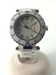クォーツ腕時計/アナログ/ステンレス/WHT/GC/ダイバーシック/I35003L1S/01