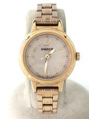 クォーツ腕時計/アナログ/ステンレス/WHT/E031-R006118/wicca