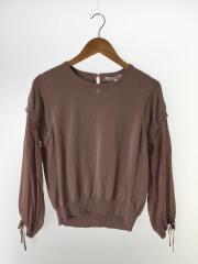 セーター(薄手)/--/コットン/PNK/無地/B0191AKW408/袖切り替えニット