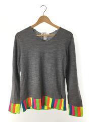 セーター(薄手)/M/ウール/GRY/S23505