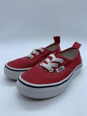 キッズ靴/16cm/スニーカー/コットン/RED