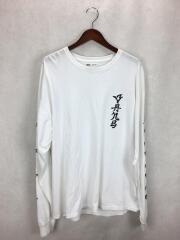長袖Tシャツ/L/コットン/WHT/無地/va17ss-mt51sq/SASQUATCH fabrix/袖スリ