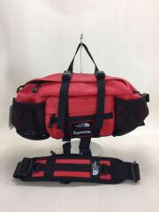 18AW/Leather Waist Bag/NM81879I/ウエストバッグ/レザー/RED/無地