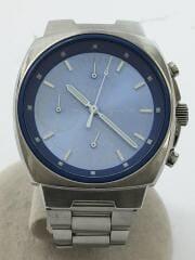 クォーツ腕時計/アナログ/BLU/SLV/V658-0A10