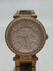 クォーツ腕時計/アナログ/ステンレス/PNK