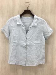 半袖シャツ/--/リネン/BLU/無地/19-051-912-7060-2-0/2019SS