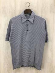 ポロシャツ/--/ウール/BLK/ボーダー/849657/ニットポロ