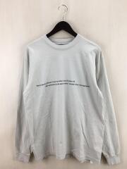 長袖Tシャツ/M/コットン/GRY/無地