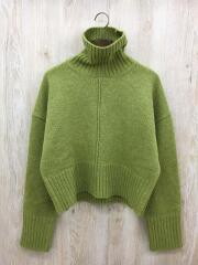 セーター(薄手)/ウール/グリーン
