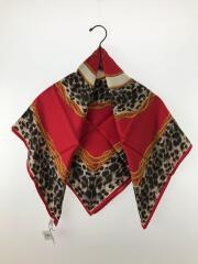 スカーフ/シルク/RED/レオパード