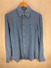 linen chambray shirt/1410106804/長袖シャツ/S/リネン/IDG