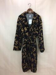 18AW Robe Embroidery Velveteen/ベロアガウン/M/BLK/総柄/DI499
