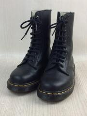 xDr.Martens/10HOLE BOOT AW006/レースアップブーツ/UK4/BLK/レザー