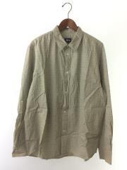 90s/ロゴ総柄/袖口汚れ有り/長袖シャツ/XL/コットン/GRY/総柄