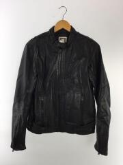 Chopper Leather Jacket/シングルライダースジャケット/M/羊革/BLK