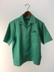ボウリングシャツ/M/ポリエステル/GRN/刺繍プリント/01191408