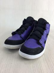 JORDAN 1 MID ALT/キッズ靴/22cm/スニーカー/PUP/AR6351-051