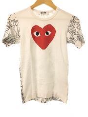 Tシャツ/S/コットン/WHT/プリント/AD2014/アナと雪の女王