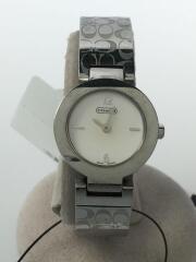 シグネチャー/クォーツ腕時計/0185/アナログ/ステンレス/ホワイト/シルバー