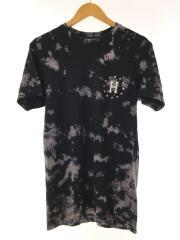 Tシャツ/S/コットン/NVY/タイダイ/
