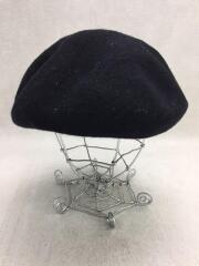 ベレー帽/FREE/ウール/BLK/日本製
