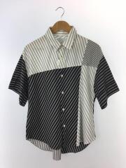 半袖シャツ/M/ポリエステル/WHT/ストライプ/LU17P0040670100/17SS
