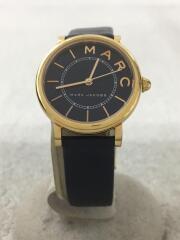 クォーツ腕時計/アナログ/レザー/NVY/NVY/MJ1539/ROXY