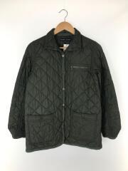 キルティングジャケット/7/ポリエステル/GRN/無地/インパクト21