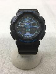 クォーツ腕時計・G-SHOCK/デジアナ/ラバー/BLK/BLK/GA-100CB-1AJF