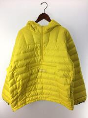 ジャケット/L/ポリエステル/YLW/Micro Down Half Zip Hooded Pullover