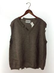 ニットベスト(薄手)/2/ウール/BRW/N30-KN03/Broken Knitted Vest