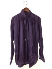 19FW/Ascot Collar EDW Gather Shirt/S/GL198/PUP