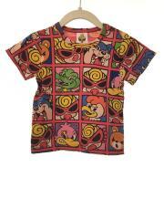 Tシャツ/80cm/コットン/RED/総柄/FAN CLUB/17202387