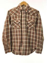 ウエスタンチェックシャツ/15/WESTERN RANCHMAN/BRW/LOT106