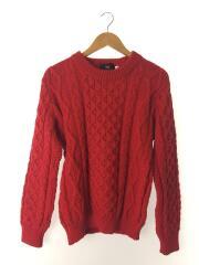 セーター(厚手)/36/ウール/RED