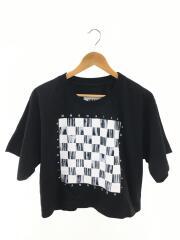 ショートスリーブプリントTシャツ/M/コットン/ブラック/総柄/S52GC0094