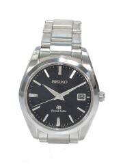 グランドセイコー/クォーツ腕時計/アナログ/ステンレス/BLK/SLV/9F62-0AB0