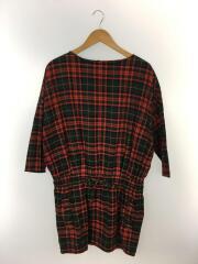 Traditional Weatherwear/長袖ワンピース/S/RED/チェック/142SD-7080G
