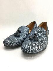 Chatelles/シャテル/タッセル/フラットパンプス/34.5/ネイビー/靴/シューズ
