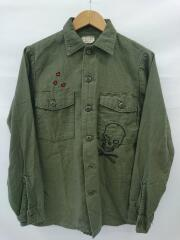 70s~/SATEEN UTILITY SHIRT/長袖シャツ/14.5/8405-00-781-894