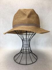 マチュアーハ/BOXED HAT/ハット/麦わら帽子/ベージュ/無地