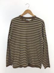 20AW/長袖Tシャツ/S/コットン/ブラウン/20A-NW-001