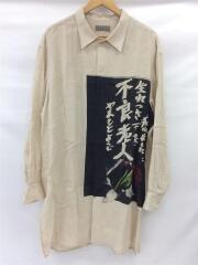 19SS/生まれつき不良老人/長袖シャツ/2/リネン/CRM/HH-B56-305