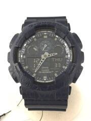 クォーツ腕時計・G-SHOCK/デジアナ/ラバー/NVY