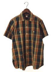 18SS/ワークシャツ/半袖シャツ/38/コットン/マルチカラー/チェック/KS8SSH04