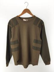 17AW/AGENT TEE. COPO/長袖Tシャツ/M/コットン/カーキ/172ATDT-CSM05