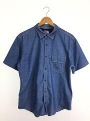 シャンブレーシャツ/半袖/L/コットン/BLU/NT3613N