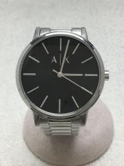 クォーツ腕時計/アナログ/ステンレス/ブラック/シルバー/AX2700/インポート/デザイナーズ