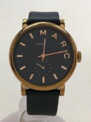 腕時計/アナログ/レザー/GLD/NVY/スモールセコンド/MBM1329