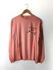 長袖Tシャツ/L/コットン/PNK/プリント